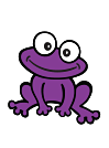 glaze purple frog!