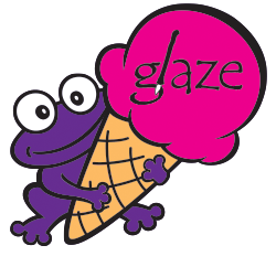 The Purple Frog at glaze!